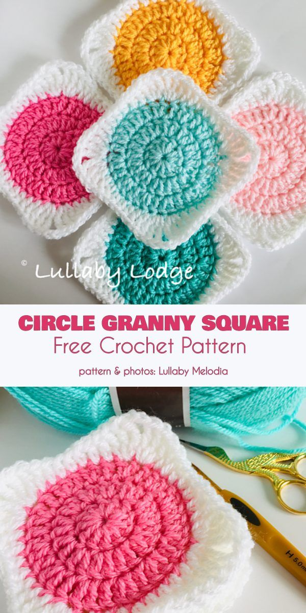 Circle Granny Square Free Crochet Pattern
