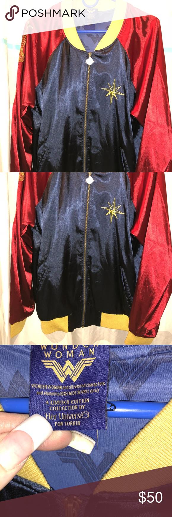 Torrid Wonder Woman bomber jacket NWT Bomber jacket