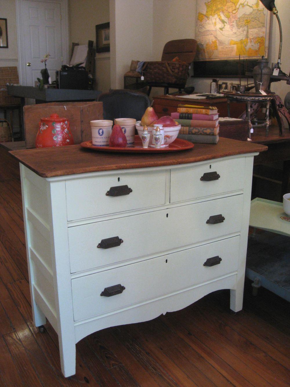 Dresser as kitchen island summer projects pinterest kitchen