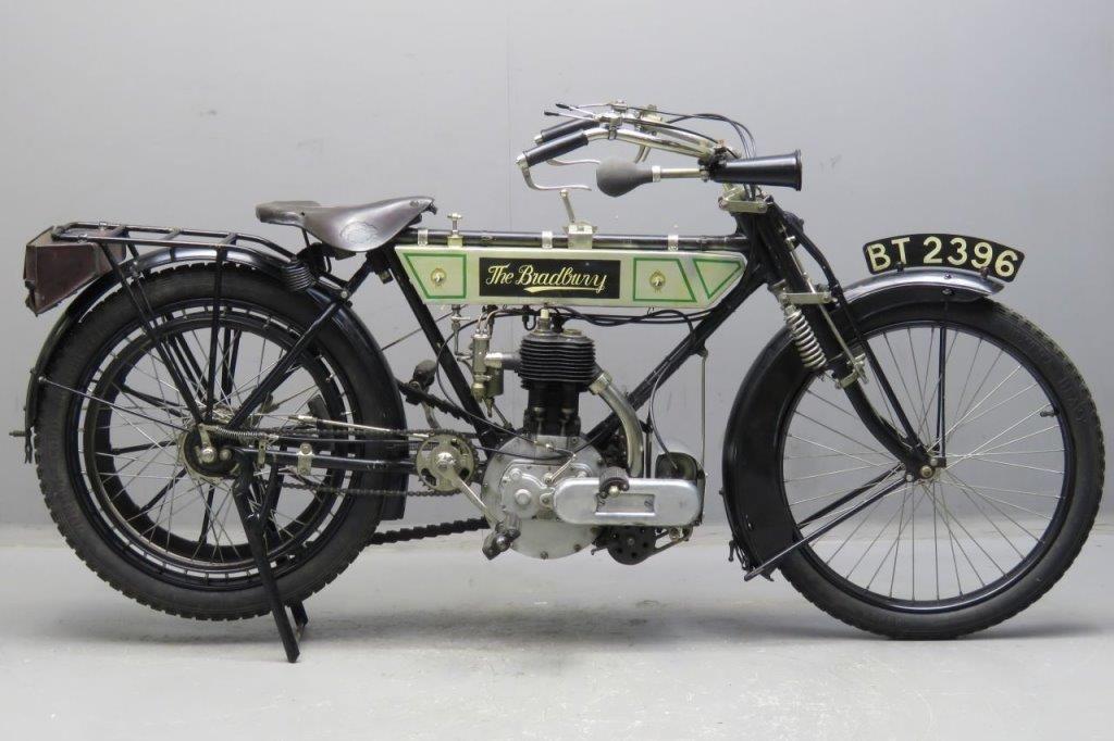 Bradbury 1912 3 Hp 554cc 1 Cyl Sv 2603 Yesterdays British Motors Classic Bikes Classic Motorcycles
