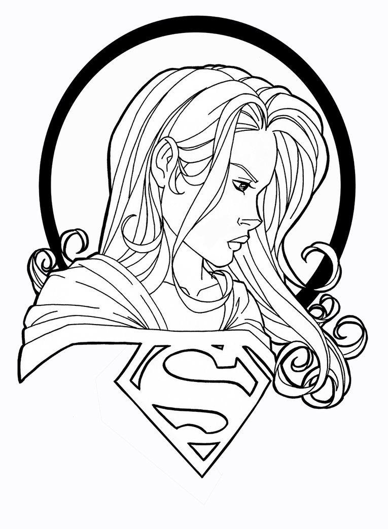 supergirl by JamieFayX Dibujos, Páginas para colorear