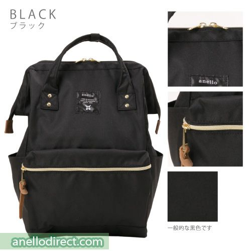 2165525d9b91 Anello Polyester Canvas Backpack Rucksack Regular Size AT-B0193A Black Japan  Original Official Authentic Real Genuine Bag Free Shipping Worldwide  Special ...