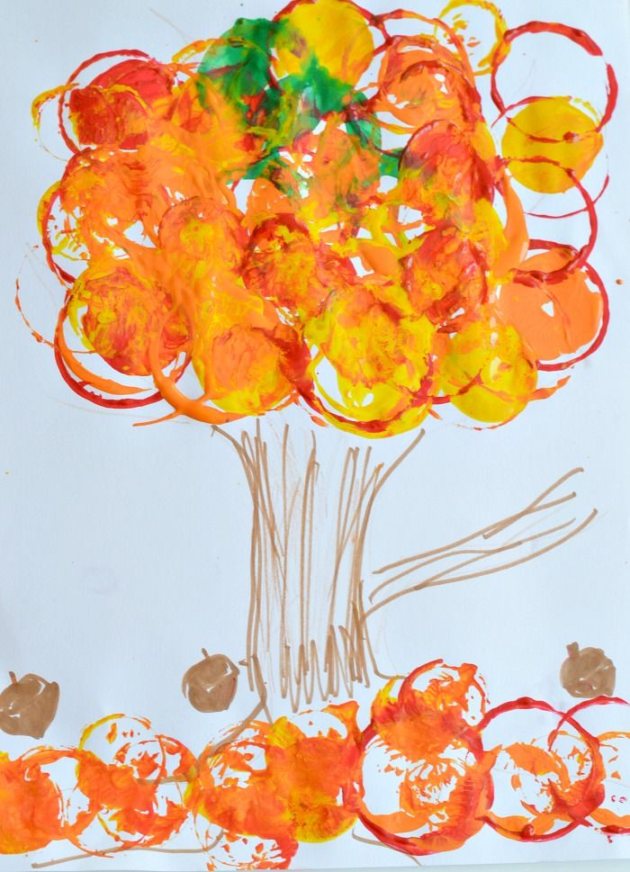 fall tree craft ideas fall projects for easy fall tree printing 4427