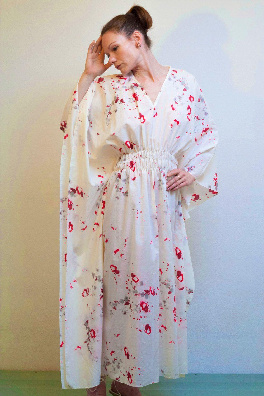 Kleid Kaftan Seidenkleid Weisse Sommerkleid Oversized Kaftan Kimonokleid Maxikleid Boho Kleid Festival Kleid Oversized Dress Caftan Seidenkleid Weisses Sommerkleid Festival Kleid