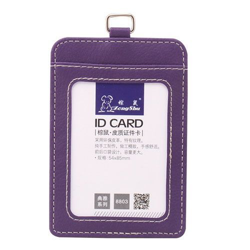 2017 New fashion ID Holders Bank Credit Card Holder Unisex PU Leather card case business Working Id Badge covers without lanyard