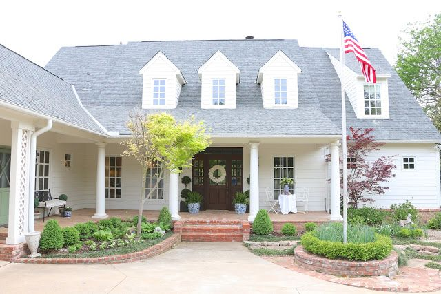 Eleven Gables Home Spring Home Tour Part 3 With Images House Tours Farmhouse Exterior House Exterior