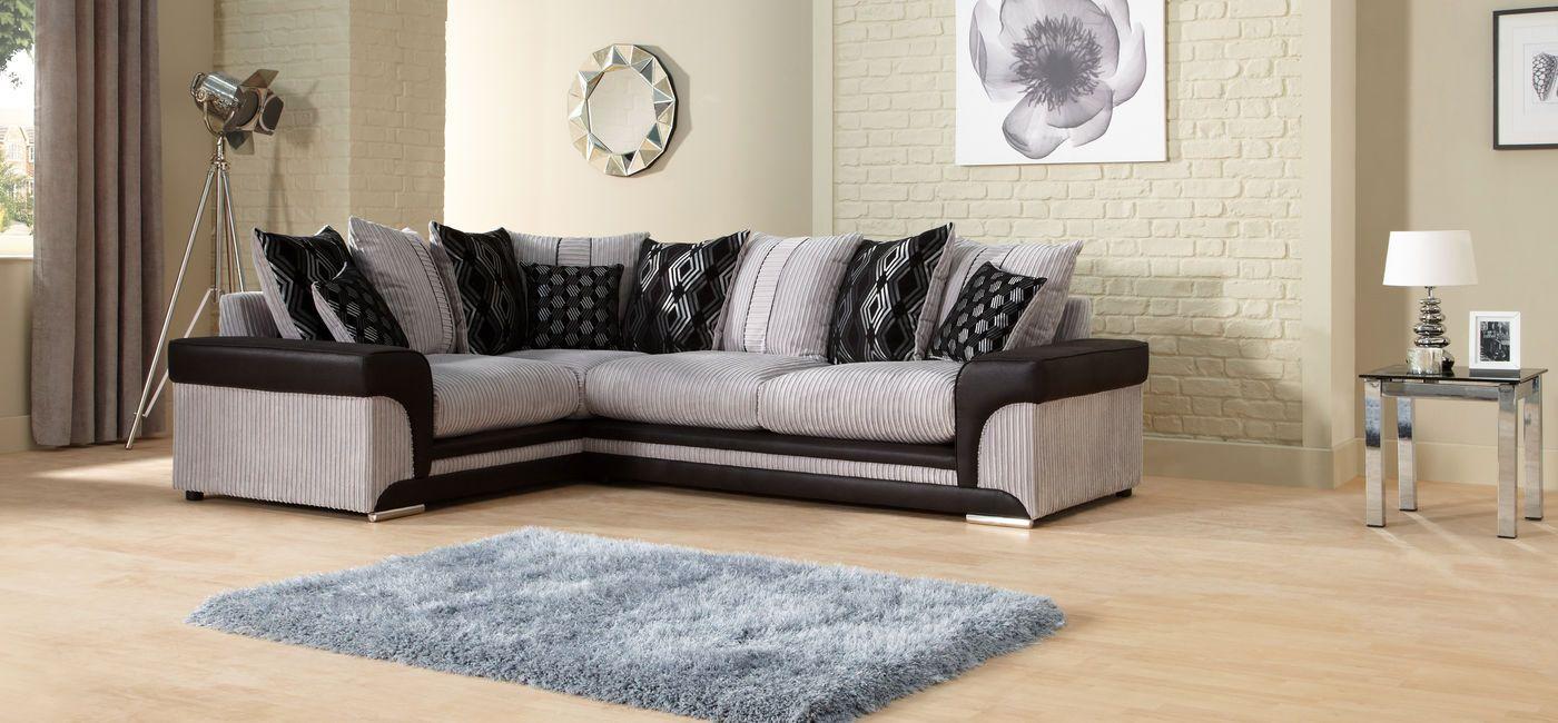 Modena Corner Group RHF Scatter Back Sofa sale, Fabric