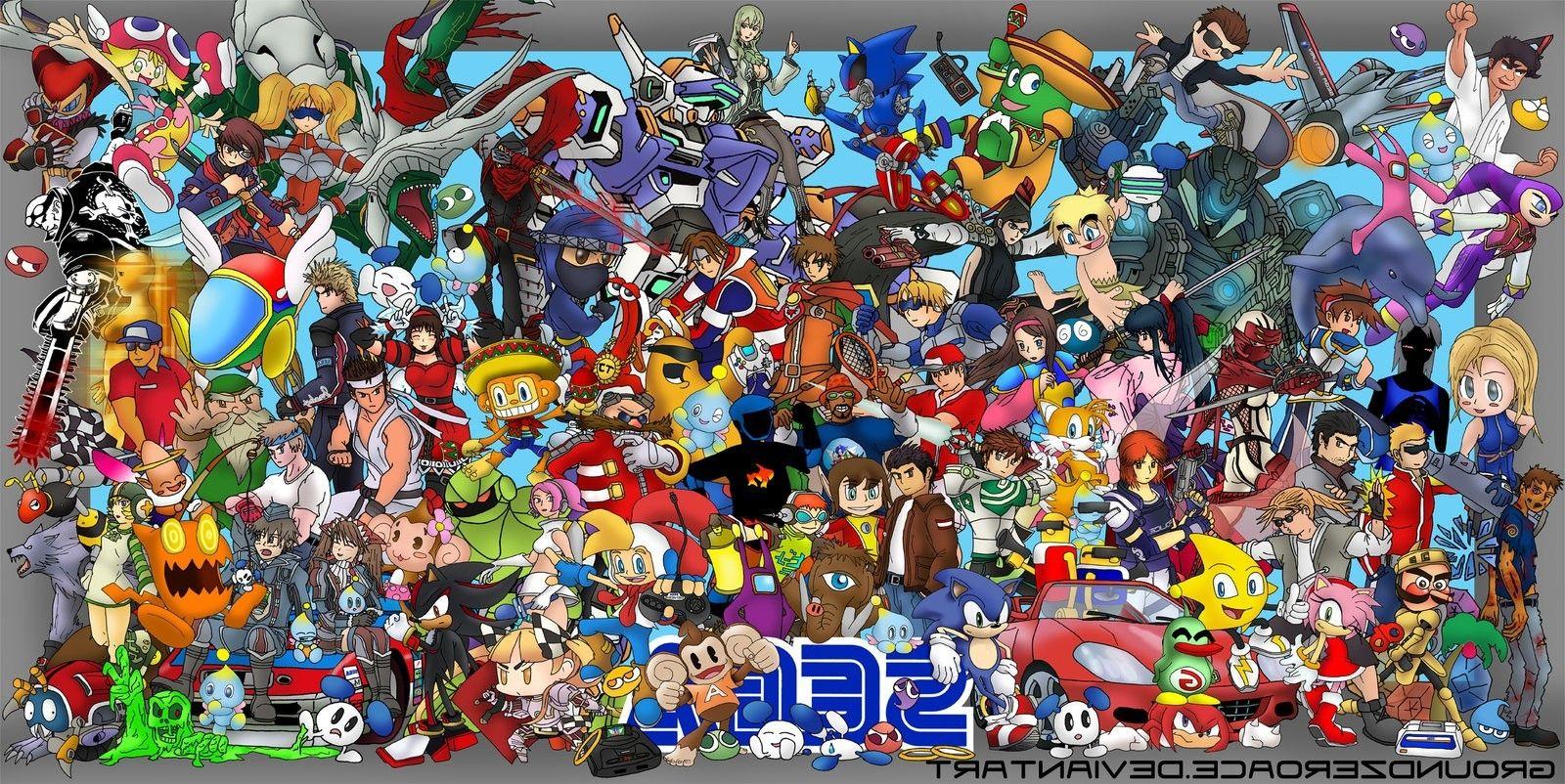 Sega, Video Games, Crossover Wallpaper Download