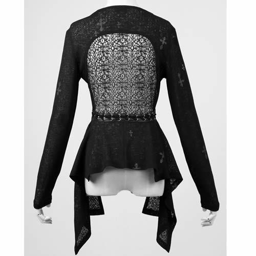 Sexy Women Black Gothic Fashion Cardigan Sweater Clothing Stores SKU-11411041