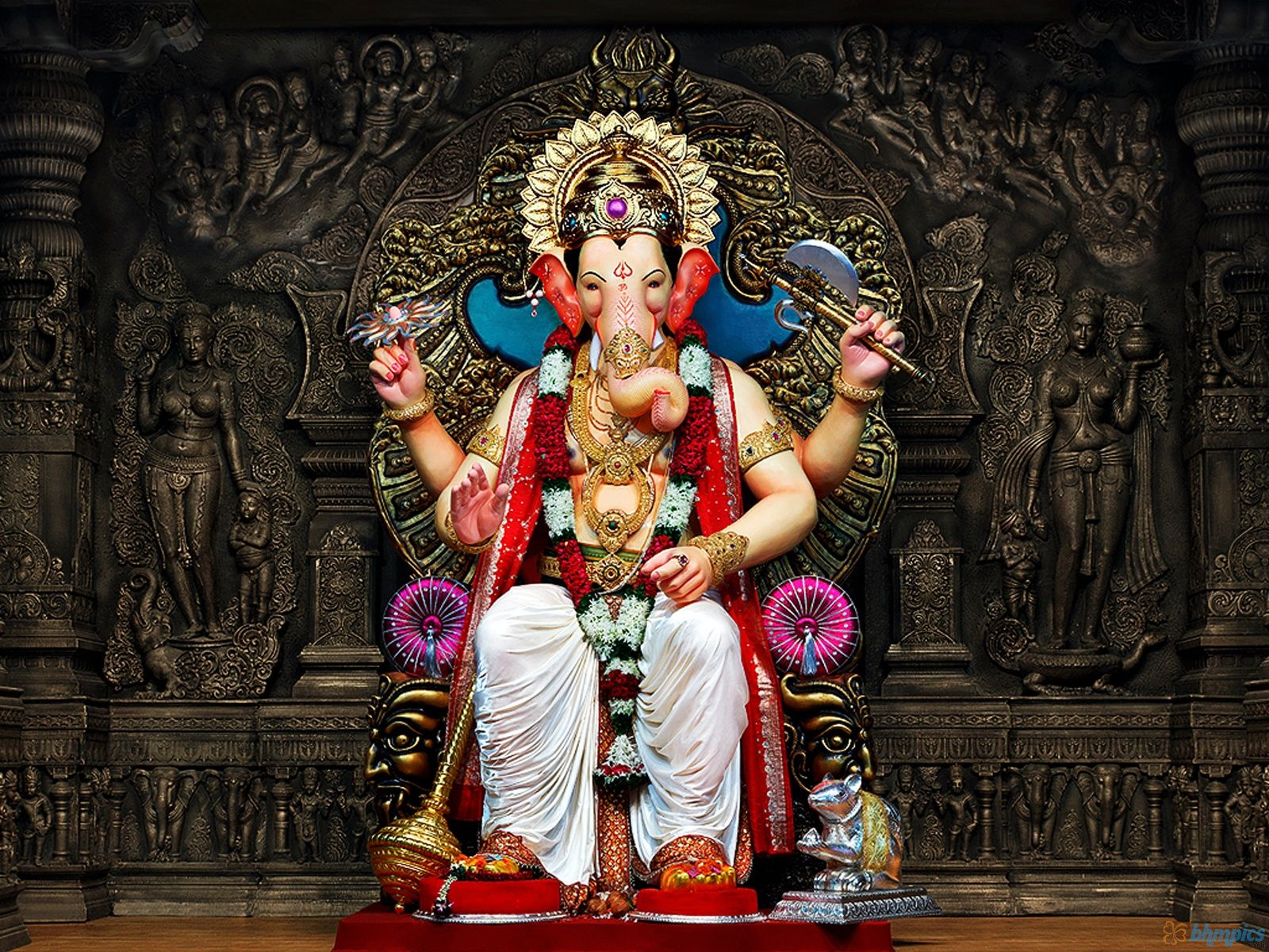 Lord Ganesha Hd Wallpaper For Desktop Wallpaper In 2019