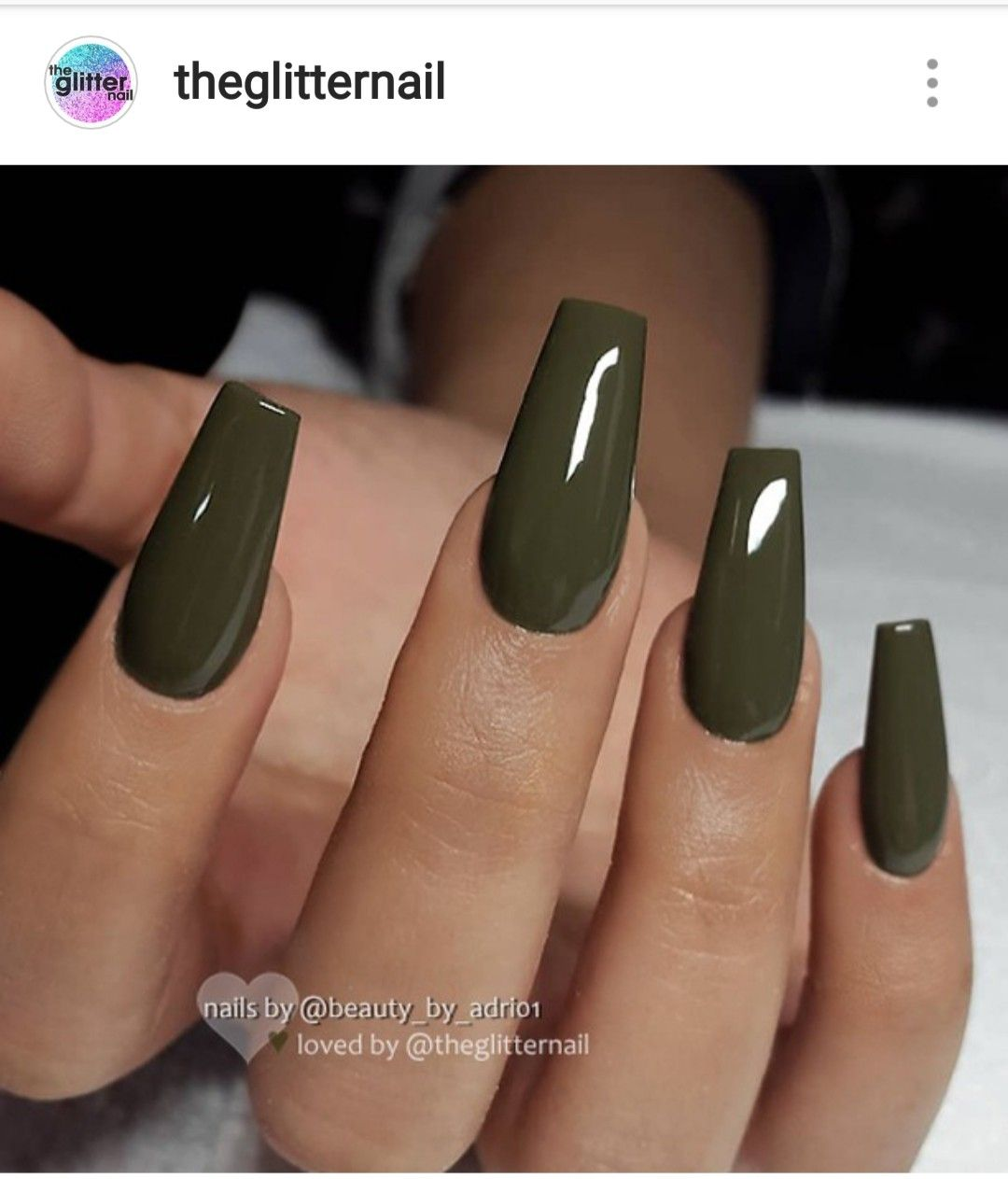 Pin By Latoya On Make Up Nails Olive Nails Green Nails Best Acrylic Nails