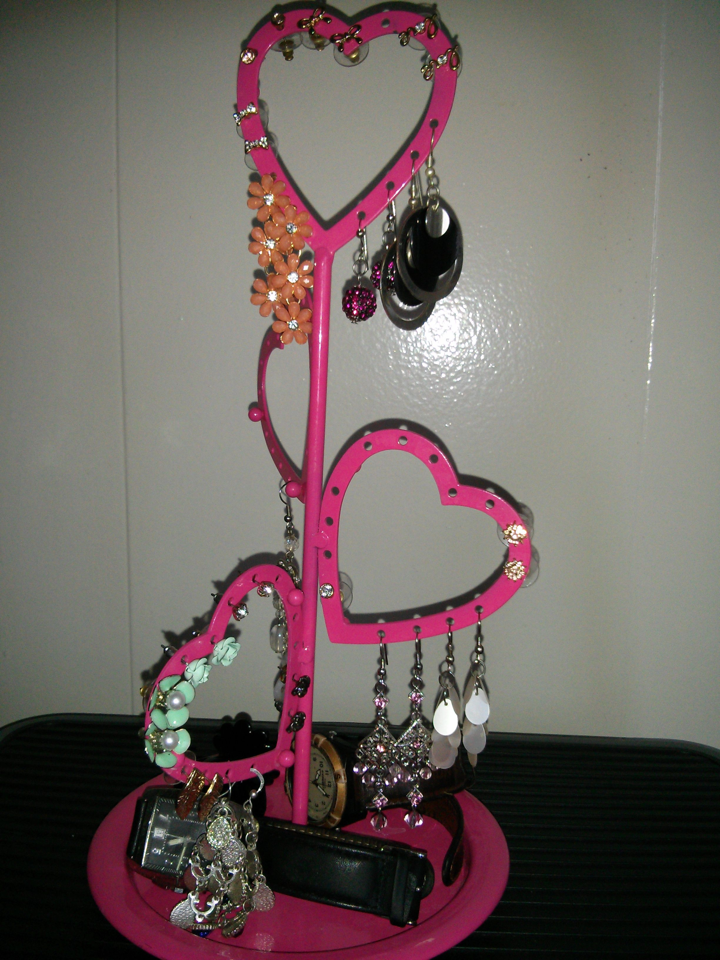 A local thrift store find for $3 USD...earring hanger adds extra charm to dressing table