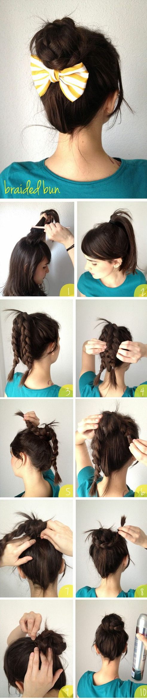 Super easy bun idea for a long day at work then add the bow if you