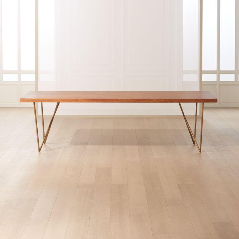 Dylan Brass Medium Acacia Table 36
