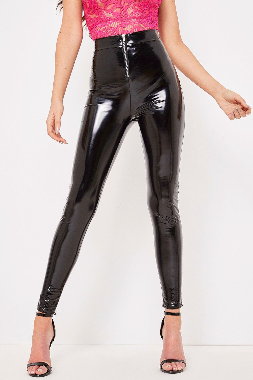 cb8e5bffff8a8 Carla Black Zip Front Vinyl Leggings | л/к | Vinyl leggings, Pvc ...