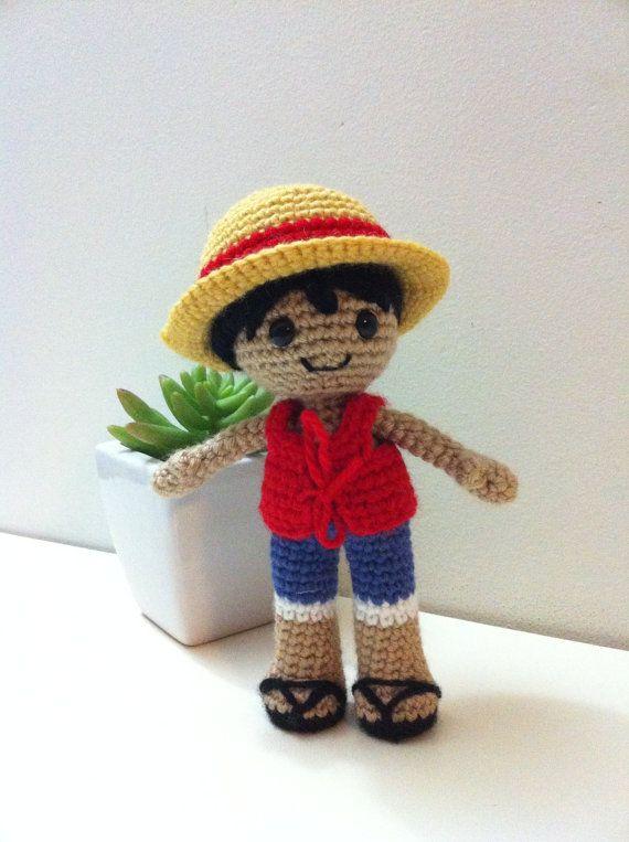 One Piece Luffy amigurumi | amigurumi | Pinterest | Handarbeiten ...