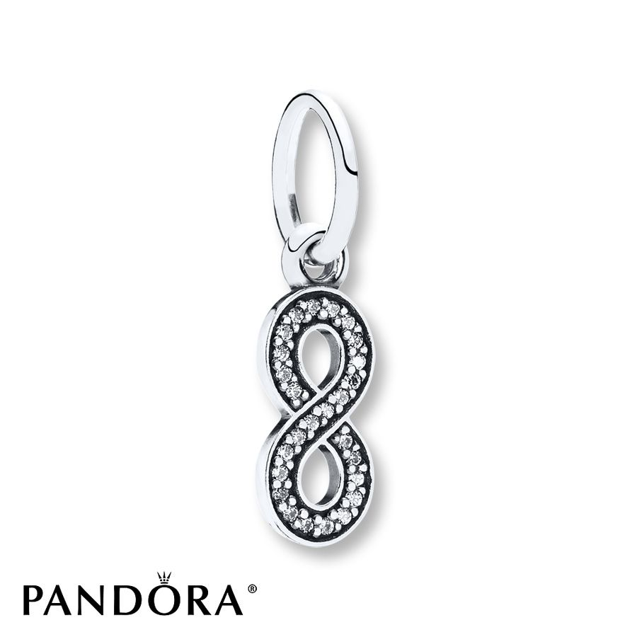 Jared PANDORA Dangle Charm Infinity Symbol Sterling Silver Gift