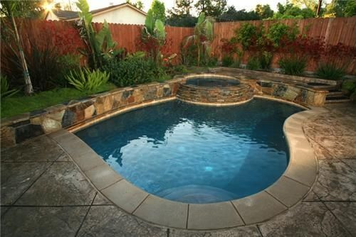 Small Inground Swimming Pool With Hot Tub