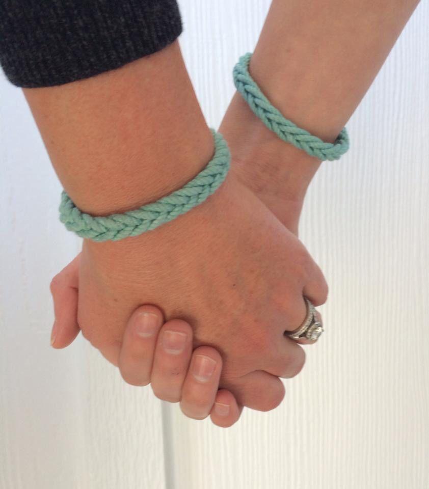 TieOneOn with us for dysautonomia Turquoise bracelet