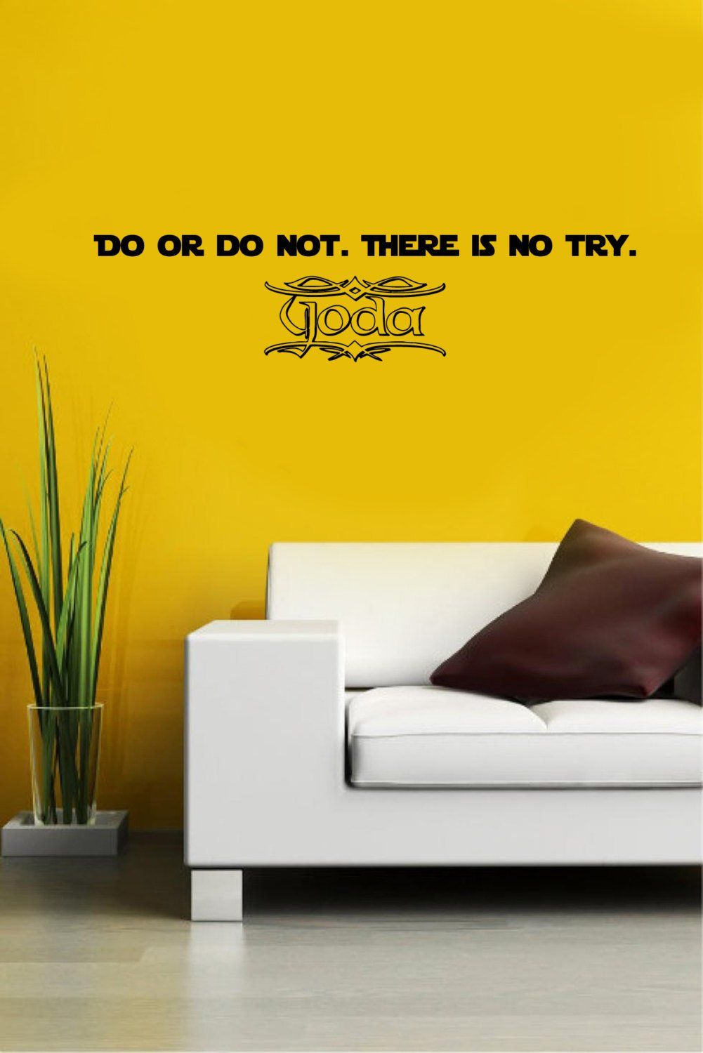 Wall Decals Star Wars Quote Do Or do not There is no try Yoda quote ...