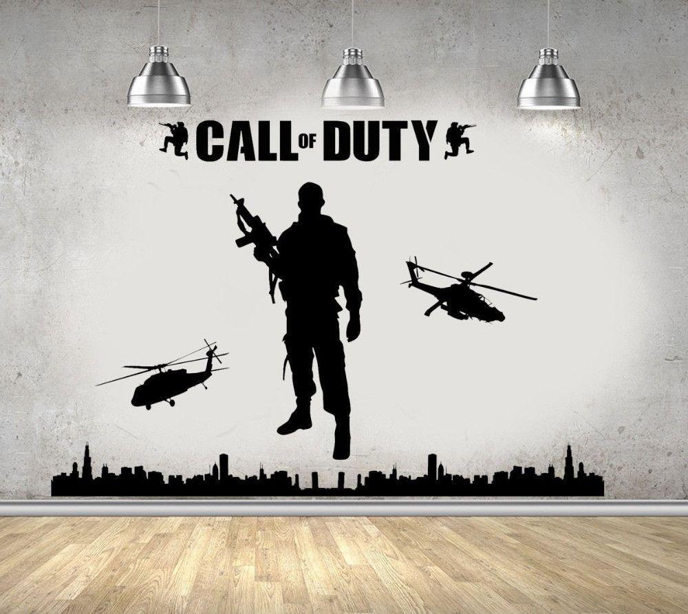 Call Of Duty Wall Decoration  Habitaciones para adolescentes