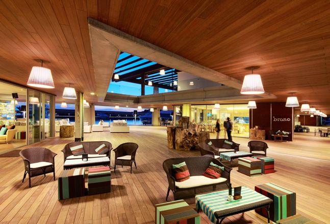 Interior view of Philippe Starck's Mallorca marina!