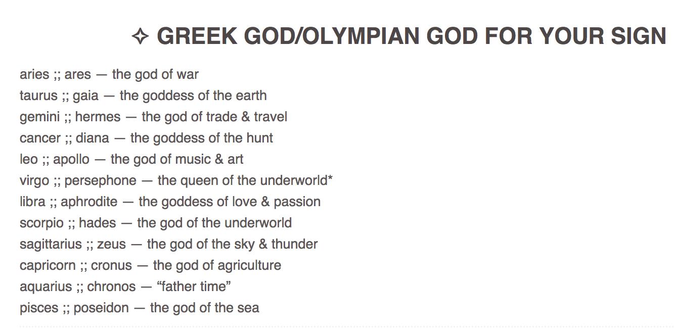 Zodiacastrology greek godolympian for your sign astrology zodiacastrology greek godolympian for your sign nvjuhfo Images