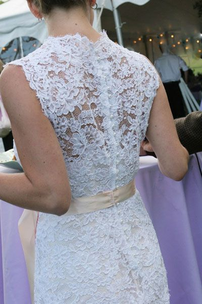 Alencon Lace gown with buttons and loops bridal gown | My dream ...
