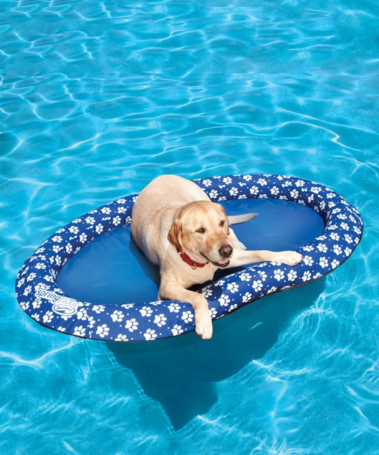 Large Spring Float Paddle Paws Pet Lounger Dog Pool Dog Pool Floats Pets