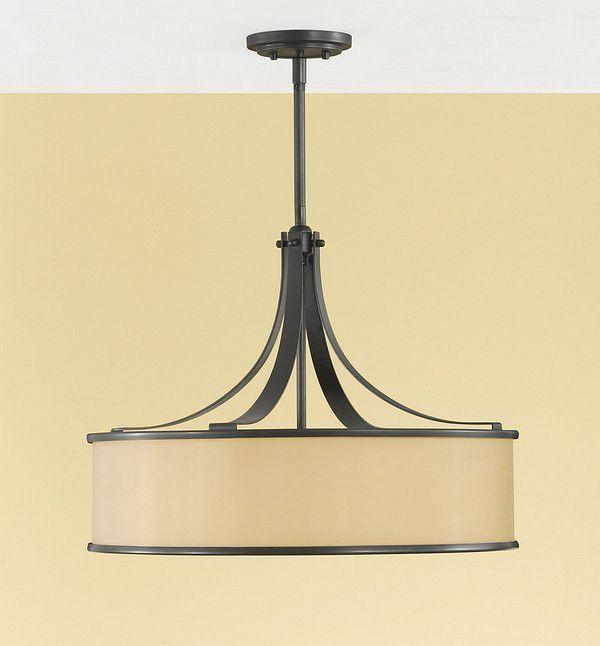 Murray Feiss Casual Luxury 4 Light Dark Bronze Drum Shade Chandelier - F2343/4DBZ