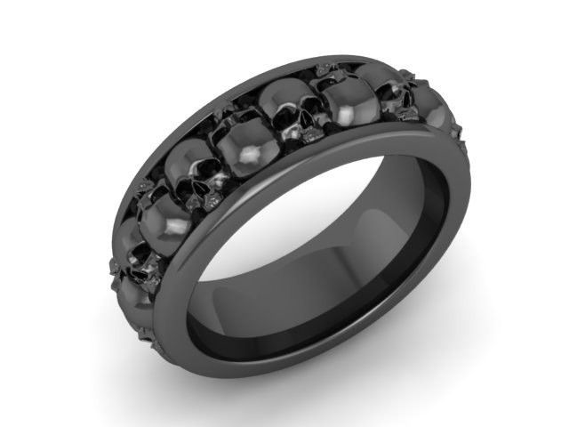 Ring Mens Or Womens Skull Wedding
