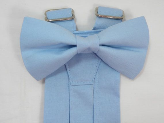 89365d604d87 Light Blue Suspenders and Light Blue Bow Tie. Sizes Infant-Adult. Wedding  Suspenders
