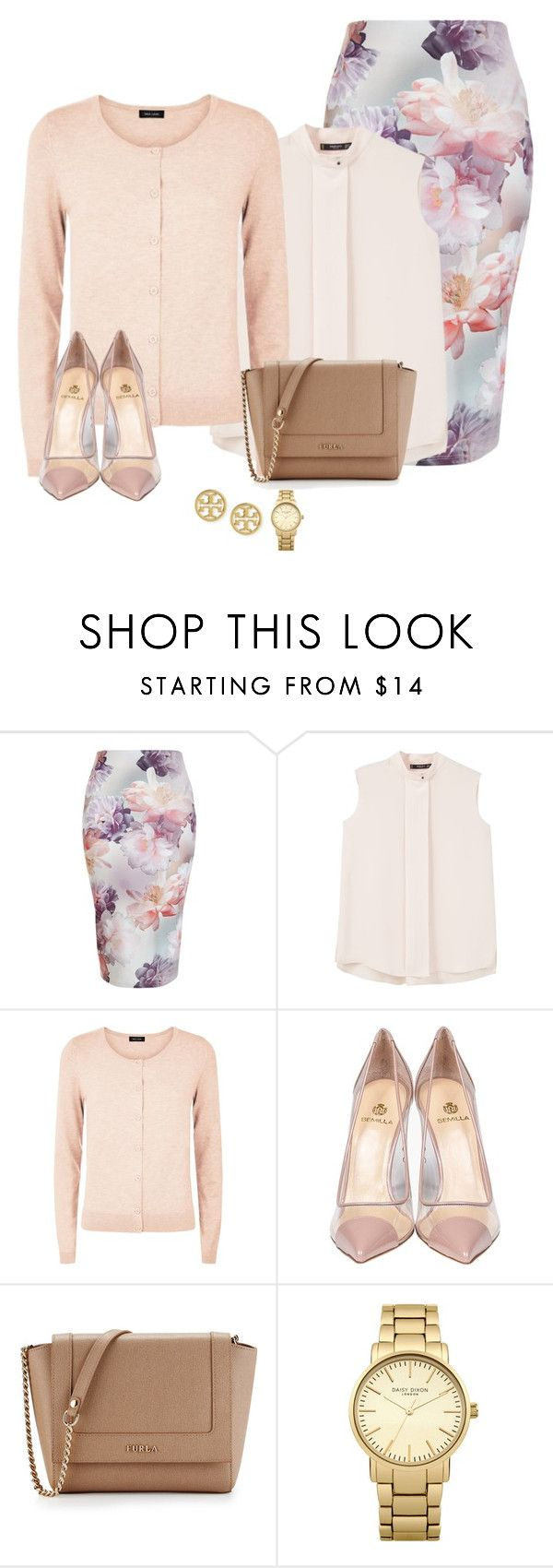 """Spring delicates"" by love-and-happiness ❤ liked on Polyvore featuring New Look, MANGO, Semilla, Furla, Topshop and Tory Burch"