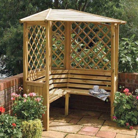 45 Garden Arbor Bench Design Ideas Diy Kits You Can Build Over Weekend Garden Arbour Seat Corner Garden Garden Arbor
