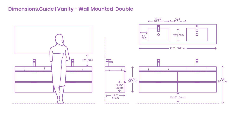 Modern wall mounted double bathroom vanities are elegant ...