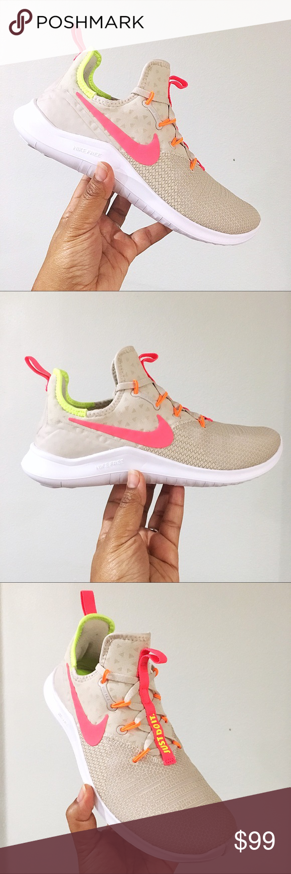 c84ea9f90cd8 Women s Nike Free TR 8 Desert Sand Hot Punch White Brand New In Box WITH  lid. 🙌🏽 - Nike Free Trainer 8 Desert Sand Hot Punch Volt 942888 004 -  Lightweight ...