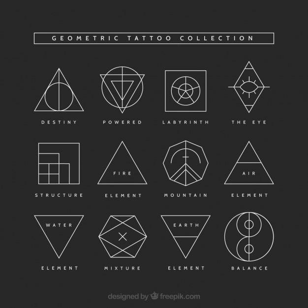 Geometrische Tattoo-Sammlung. Laden Sie Tausende von kostenlosen Vektoren herunt…