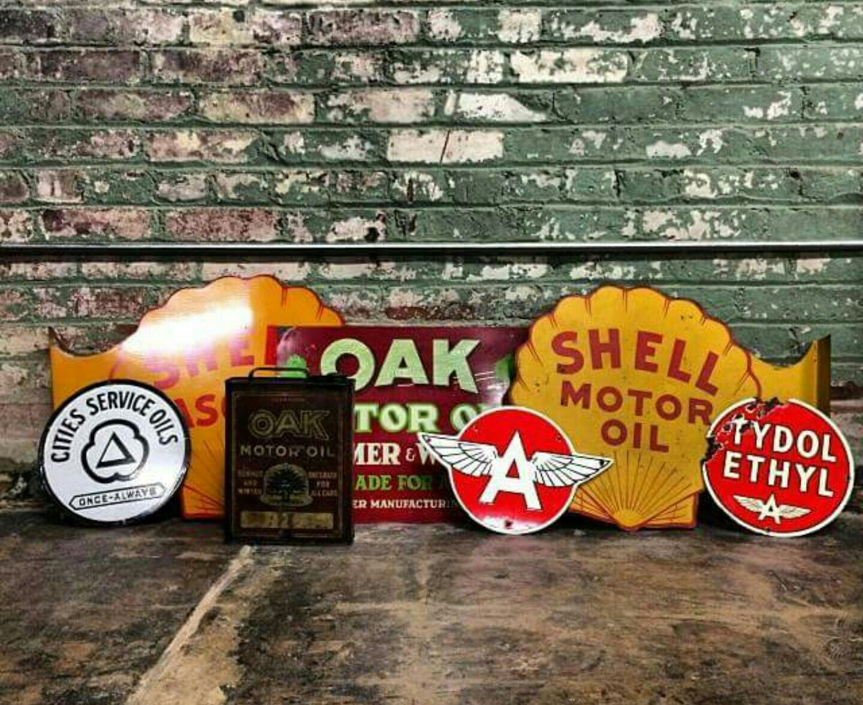 Rare Original Gas & Oil Advertising Collection   Porcelain & Tin Signs