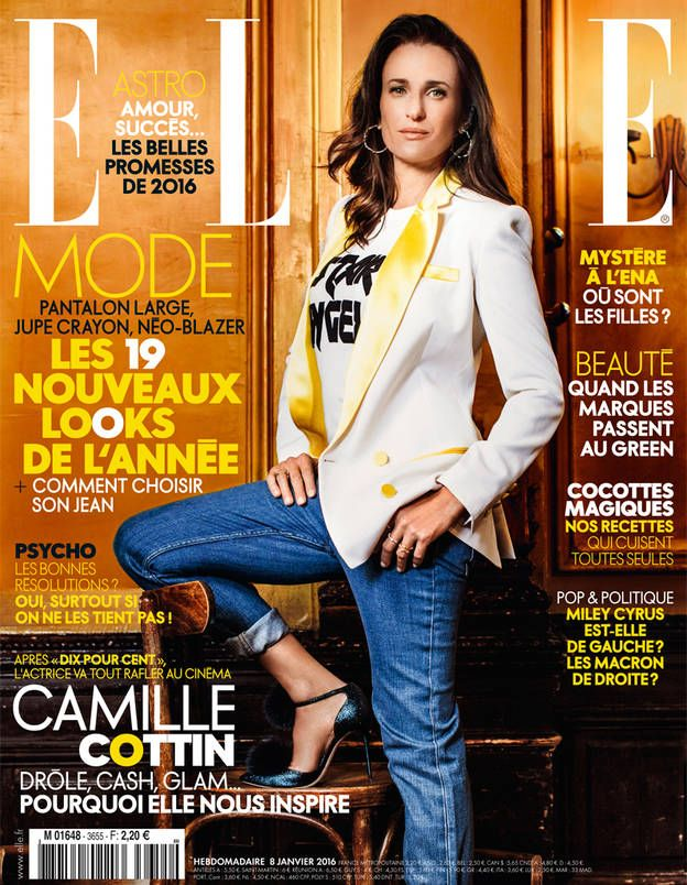 camille cottin en couverture de elle cette semaine elle magazine magazine covers and magazines. Black Bedroom Furniture Sets. Home Design Ideas