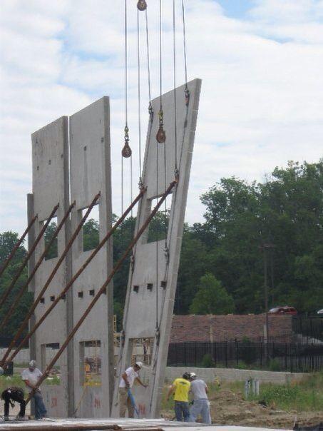 Concrete Tilt Up Wall Brace Panel Precast Concrete Concrete House Warehouse Design