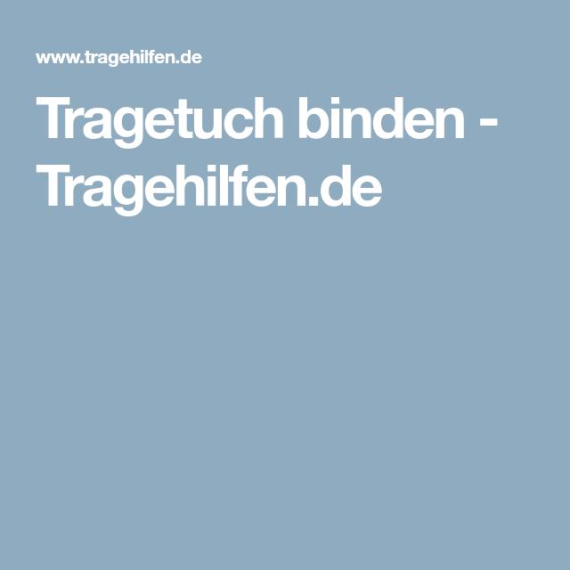 Tragetuch binden - Tragehilfen.de