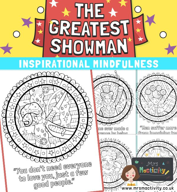 The Greatest Showman Mindfulness Colouring   Boys birthday ...