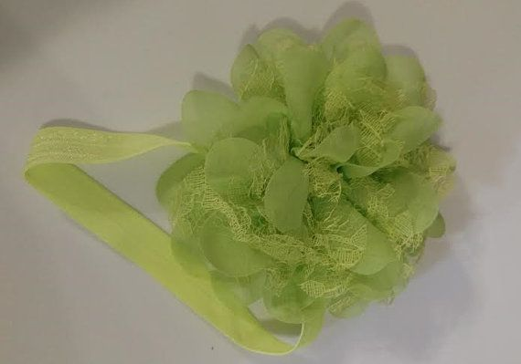Lime Flower Infant Headband by LilahBea on Etsy