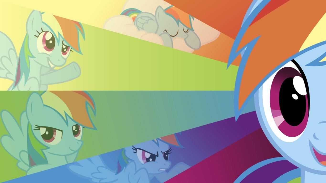 mlp - wallpaper (1366x768) | rainbow 20% cooler dash | pinterest