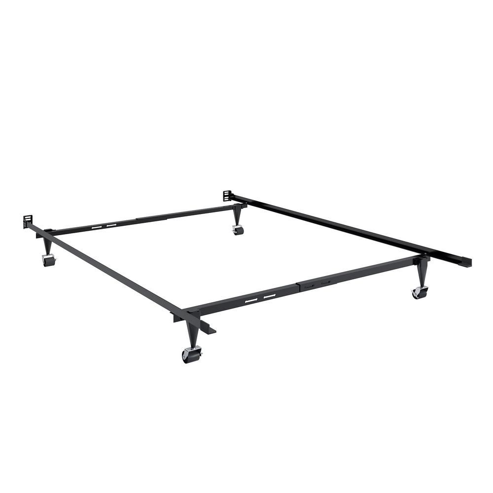 Corliving Adjustable Twin And Single Or Full And Double Metal Bed