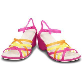 (Choi straw sandals wedge Women) FUCHSIA / GRAPEFRUIT [14SS-I]