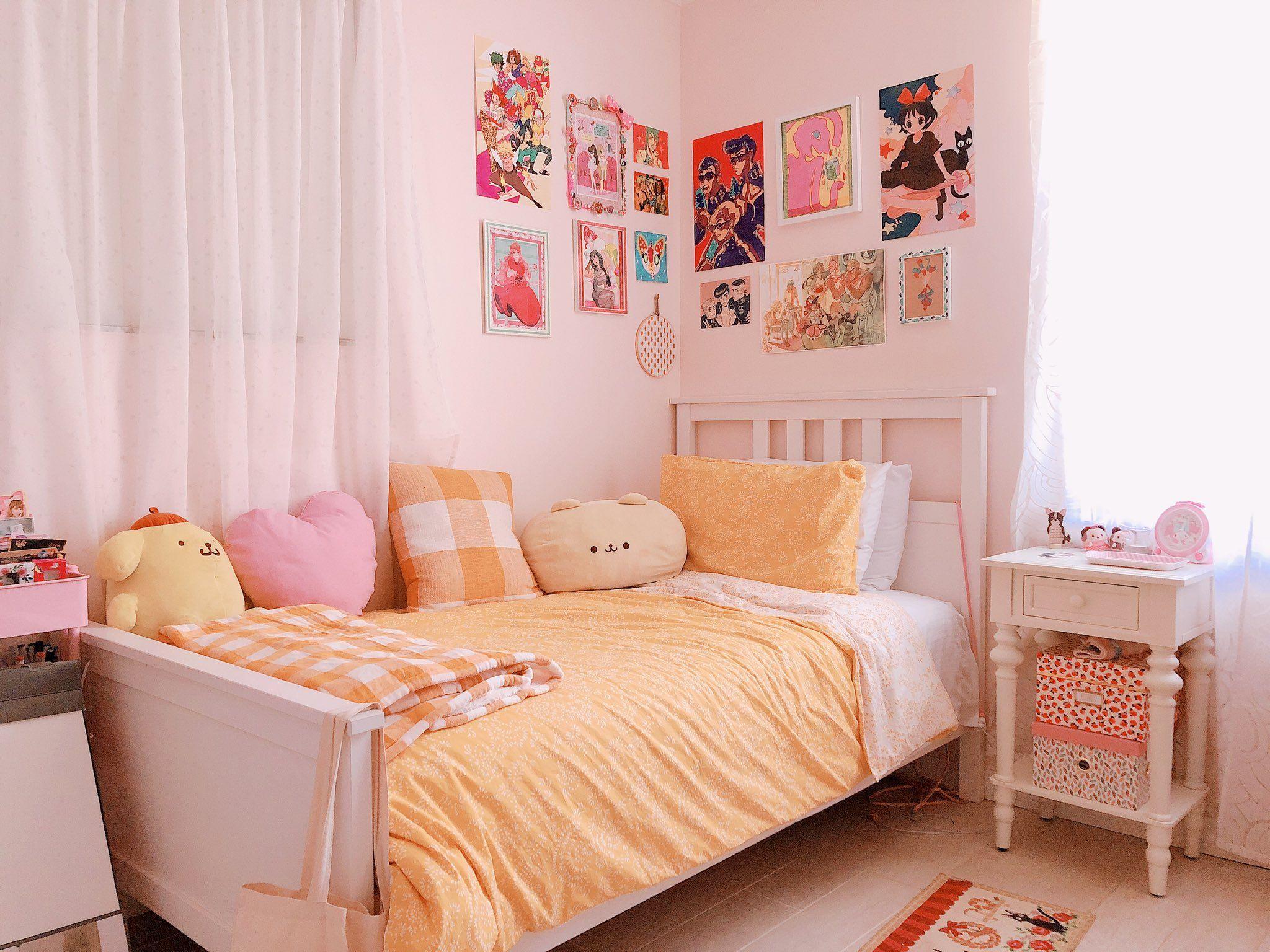 Peach On Twitter Army Room Decor Room Inspiration Bedroom Minimalist Room Pink minimalist room decoration