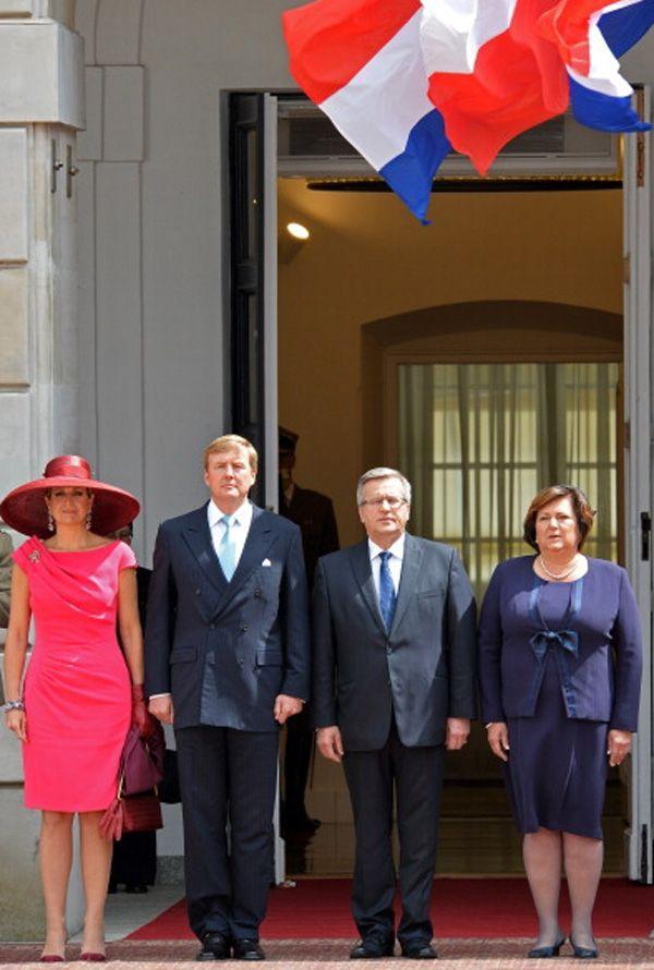 Los Reyes de Holanda visitan Polonia