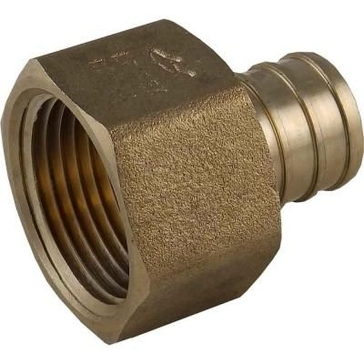 Sharkbite 3 4 In Brass Pex Barb X Female Threaded Adapter X2 For The Valve To Go To The Tub Faucet And Shower Head Thread Adapter Brass Tub Faucet