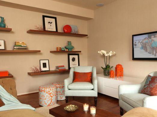 Colores Para Tus Salas Comex Tips Small Apartment Decorating Living Room Decor Modern Living Room Orange